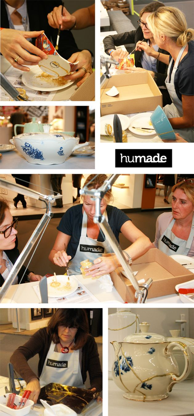 """""""New kintsuki"""" a new way of repairing ceramics based on an ancient Japanese technique."""