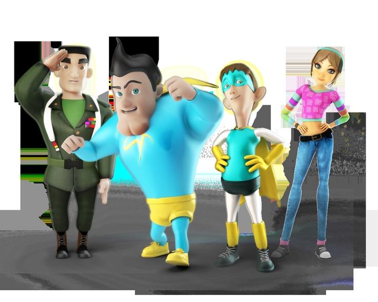 Justo Leal, SuperTeso, DebiLucho, y Eli