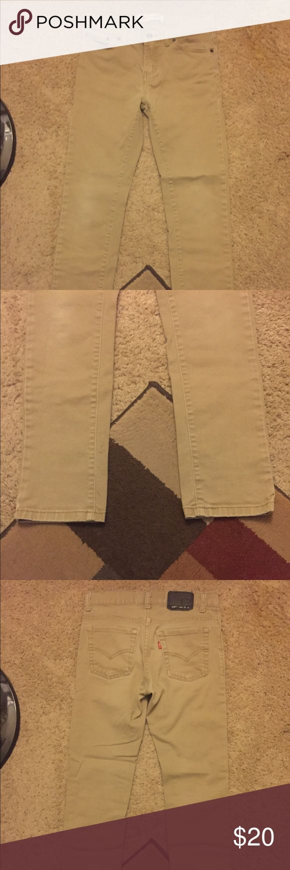 """Levi's 510. Young men's, 27""""x 27"""" (14 regular). Levi's 510. Young men's, khaki, skinny jeans. Size 27""""Wx 27""""L (14 regular). In """"like new"""" condition! See photos for close up details. Levi's Bottoms Jeans"""