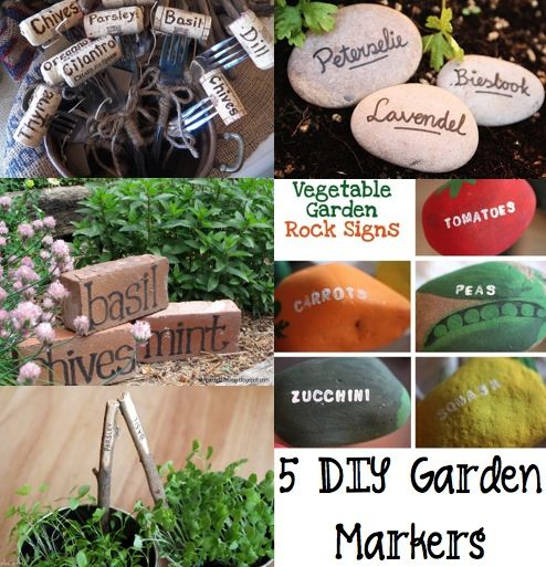 5 DIY Garden Markers   Upcycled Bricks And Corks