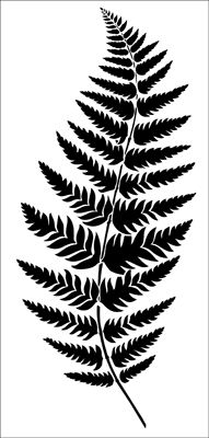 Fern stencil from The Stencil Library CONTEMPORARY range. Buy stencils online. Stencil code CO21.