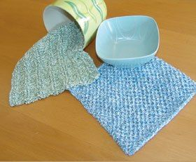 knitted dishcloths with ridges - They say 2 hours to make