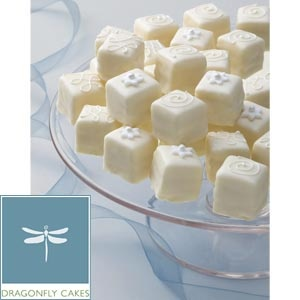 Remind me to use these Costco petit fours for bridal shower or rehearsal dinner.