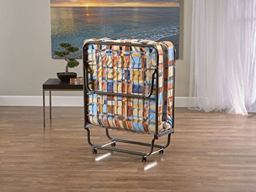 Quickly transform any space into a guest room with this convenient, comfortable foldaway bed on casters. Designed to fit easily in a closet when folded up, yet provides ample sleeping space (unfolded, 75-inch L by 31-inch W by 15-inch H). The InnerSpace Folding bed comes in two different... more details available at https://furniture.bestselleroutlets.com/bedroom-furniture/beds-frames-bases/beds/product-review-for-innerspace-standard-folding-bed/