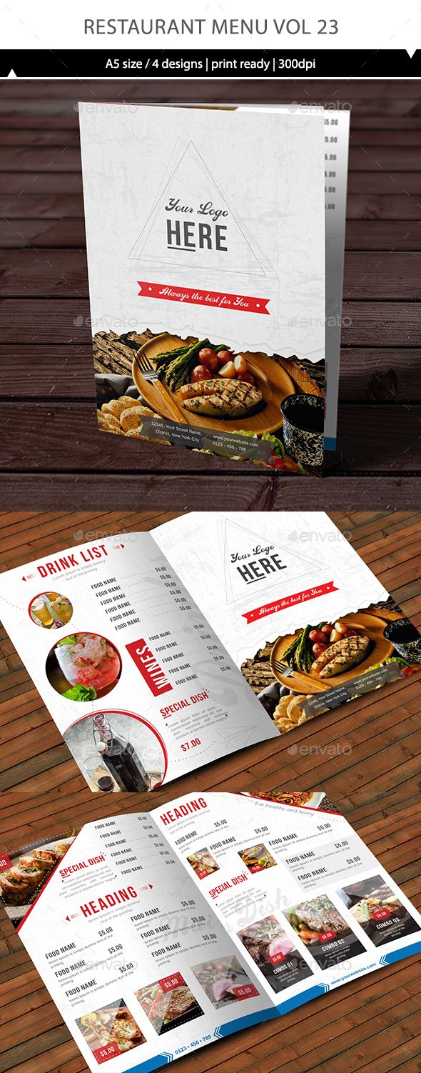 Restaurant Menu Template Vector EPS, AI #design Download: http://graphicriver.net/item/restaurant-menu-vol-23/14393802?ref=ksioks