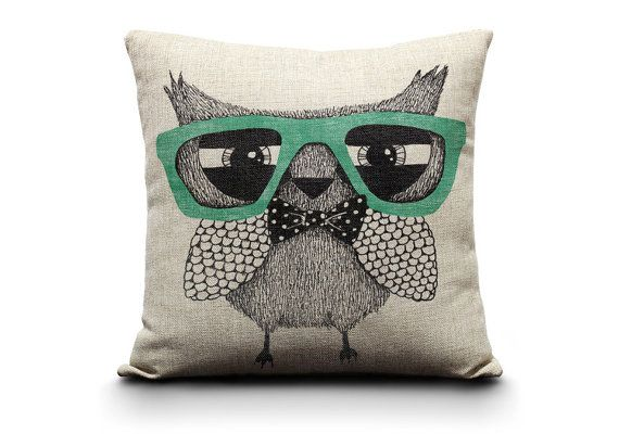 decorative pillow, owl pillow, owl, animal pillows, pillow pets, pillow covers, decorative pillows, turqoise pillow, bow tie, throw pillows