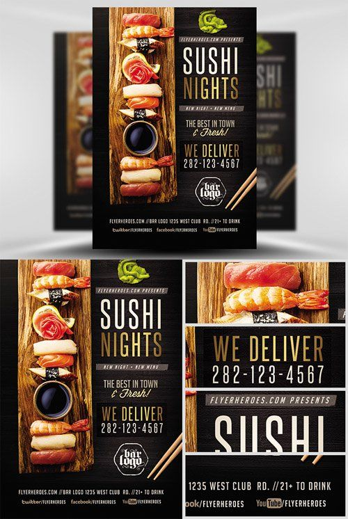 Flyer Template - Sushi Nights