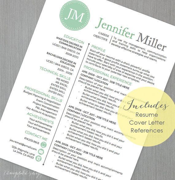 19 best Resume Templates images on Pinterest Cv resume template - printable cover letter