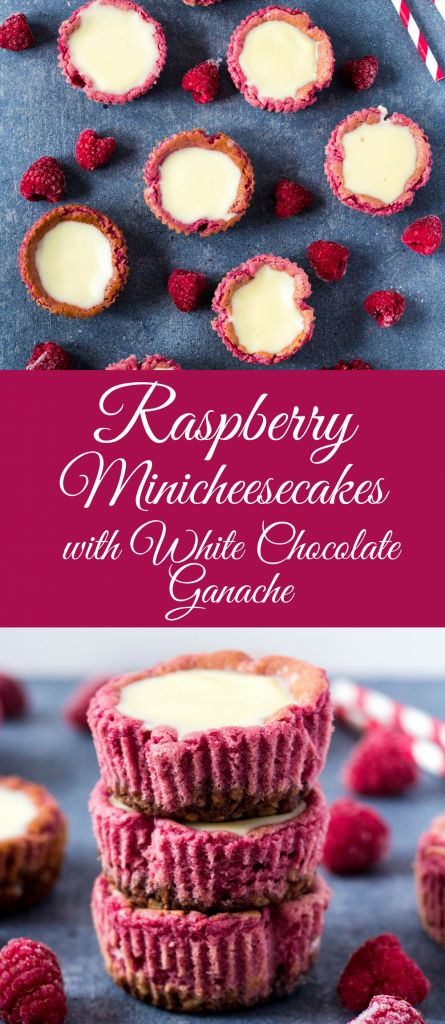 Recipe for minicheesecakes with frozen raspberries, where you can use up summer fruit stocks, cream cheese and with white chocolate ganache icing   #malinoveminicheesecakes #raspberryminicheesecake #whitechocolateganacherecipe #raspberrycheesecakerecipe #malinovycheesecakerecept #ganachezbielejcokoladyrecept