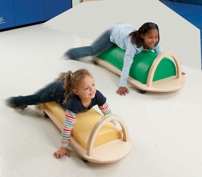 Southpaw Bolster Scooters - These would be fab for teaching teens and adults to crawl!