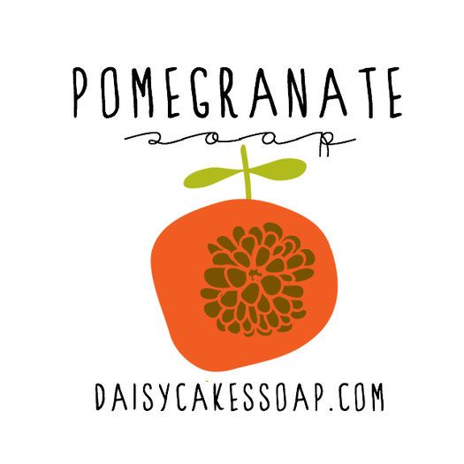 NEW Pomegranate with Blackberry Seeds A Scrubby by daisycakessoap