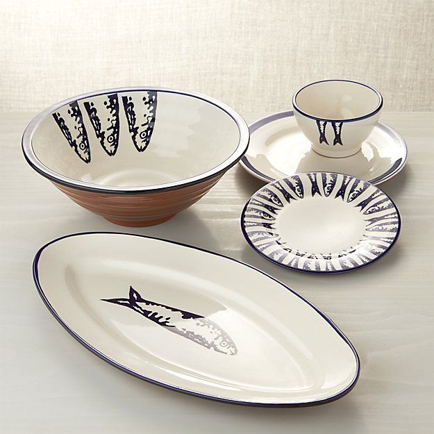 Pescado Serving Bowl | Crate and Barrel & 41 best Tableware and serving dishes for Seafood Meals images on ...