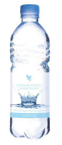 Cheddar Natural Spring Water Forever's Natural Spring Water is sourced deep within the caves of the Mendip Hills, and filtered naturally through organic land. Enriched by the rocks through which it travels, the Forever Natural Spring Water has one of the highest mineral contents of all UK waters.