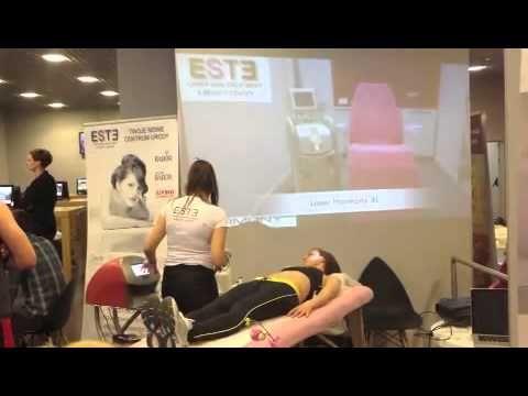 Prezentacja zabiegów odchudzających RF Accent Elite przez ESTE Laser Skin Treatment & Beauty Center podczas otwarcia Pure Jatomi Fitness w Pasażu Grunwaldzkim (Wrocław)