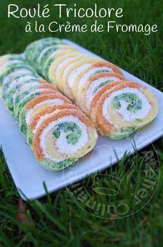 * Vendredi soir nous avons reçu des amies pour le dîner. Pour l'occasion j'ai testé une recette que j'ai vu chez Sara & Miki. * * Roulé Tricolore à la Crème de Fromage * Préparation: 15 minute...