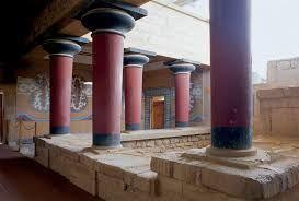 Palazzo di Cnosso. Veduta di un cortile interno, ca 1700-1400 a.C.