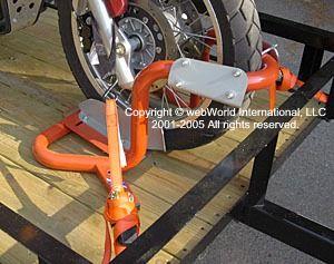 Motorcycle trailer front wheel chock - the Bike Grab | motorcycle | Motorcycle, Motorcycle trailer, Motorcycle wheels