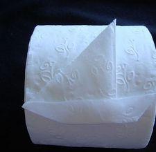 Toilet paper SAILBOAT folding tutorial