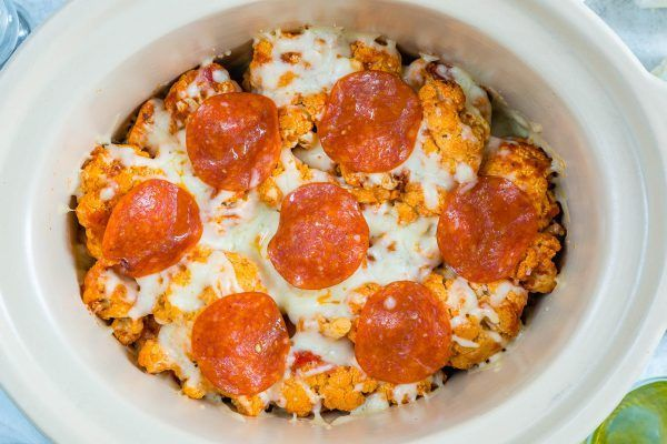 Everyone's Raving About this Cauliflower PIZZA Casserole! (Clean Eating Approved) - Clean Food Crush   I LOVE Cauliflower...AND Pizza...AND easy recipes! This one is a Slow Cooker + Friday Night win