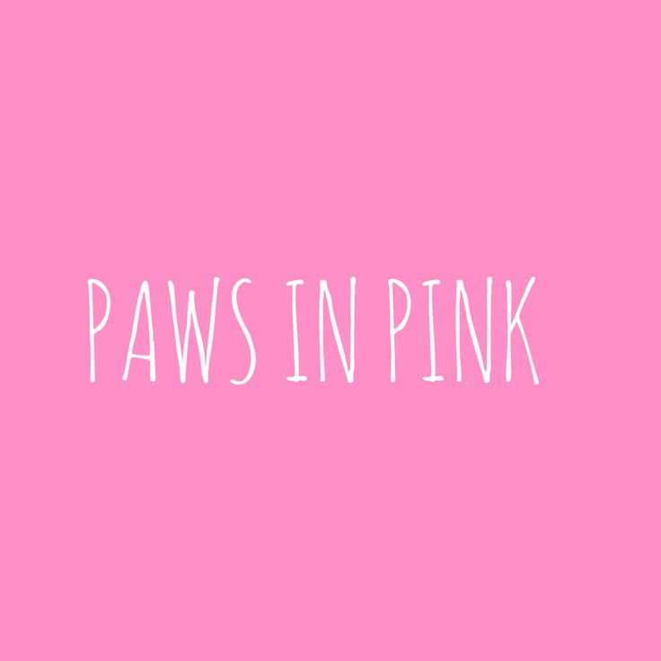 Paws in Pink