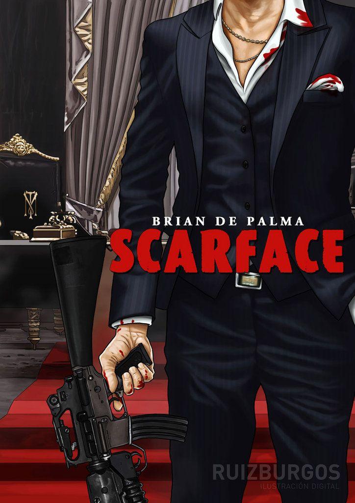 Cartel promocional de Scarface. Una de las mejores películas de principios de la década de los 80 protagonizada por Al Pacino