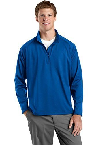 Sport-Tek Sport-Wick Stretch Performance 1/2-Zip Pullover ST850 2XL True Royal