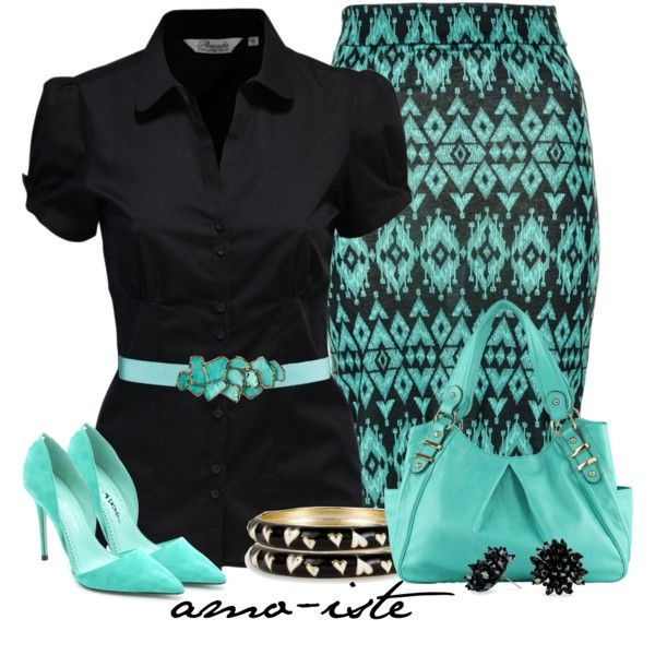 Midi Skirt at Work, created by amo-iste on Polyvore