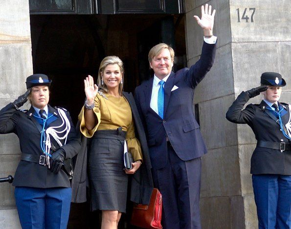 ♥•✿•QueenMaxima•✿•♥...King Willem-Alexander and Queen Maxima attended the New Years reception at the Royal Palace
