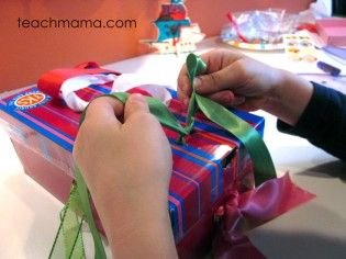 learning to tie shoes with a shoe tying box by the fabulous Teach Mama