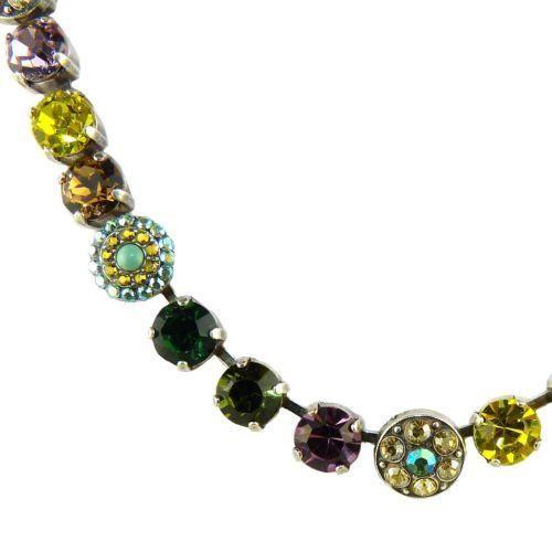 Mariana Handmade Swarovski Necklace 3044/1 1002 Topaz Rose Olivine Emerald Cryst