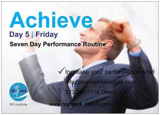 #Achieve #Routine #Friday #Life #Performance #Training #Achieve #Goal #Potential