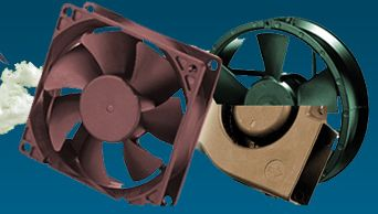 The DC brushless fan from EZ Fan California works on DC current design well known for durability and performance is used in medical electronic and telecommunication equipment. http://www.ezcfn.com/products/dc_blower.html