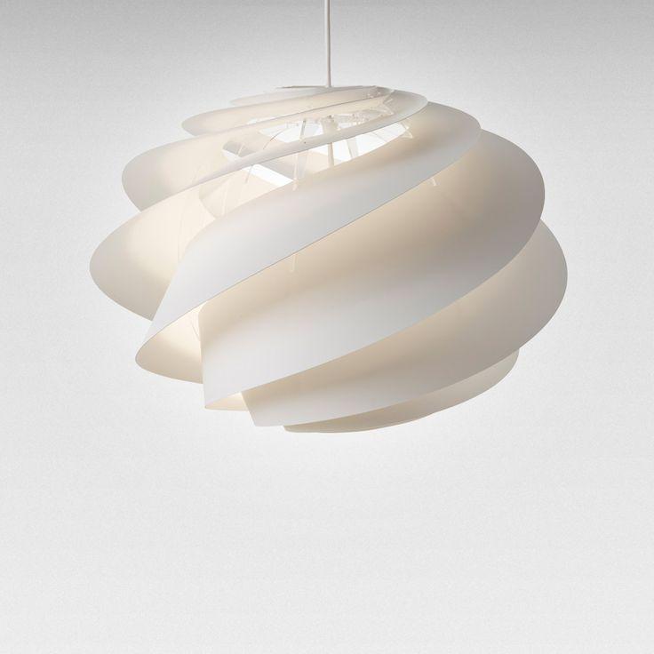 Swirl 1 Lampe, Hvit - Øivind Slaatto - Le Klint - RoyalDesign.no