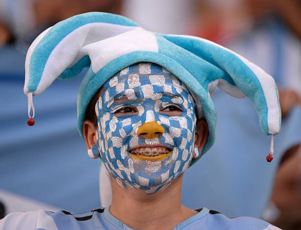 Young Argentina soccer fan