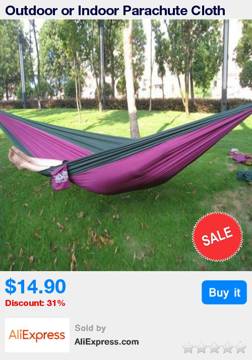 Outdoor or Indoor Parachute Cloth Sleeping Hammock Camping Hammock high quality multicolor * Pub Date: 19:17 Jul 8 2017