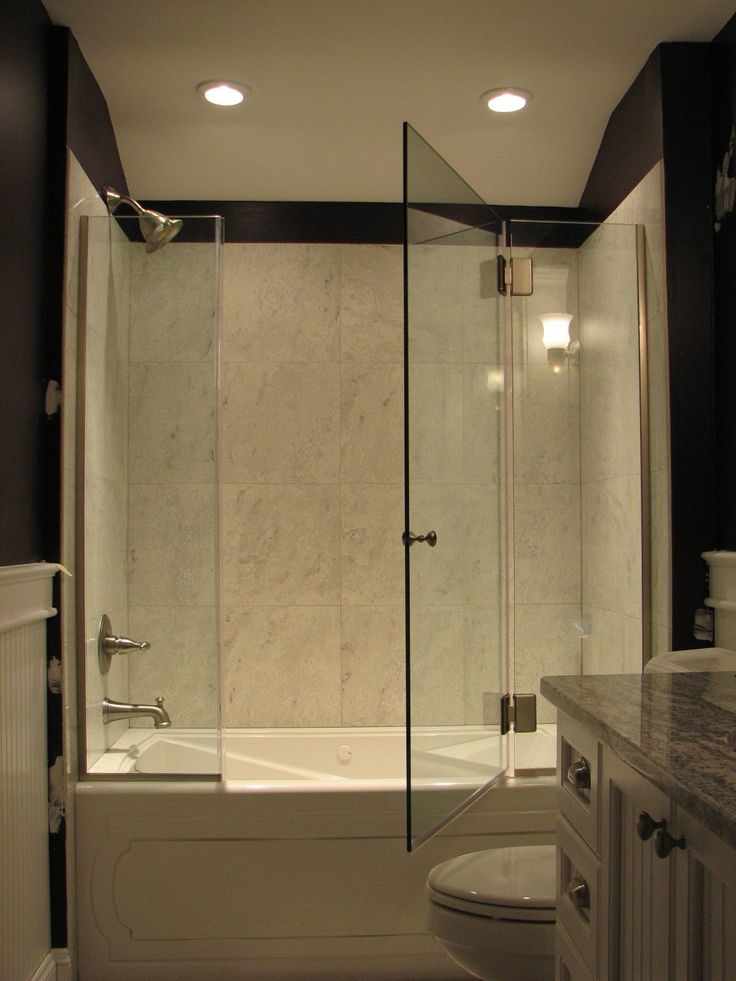 Frameless Panel Door Panel On A Tub Glass To Glass Hinge