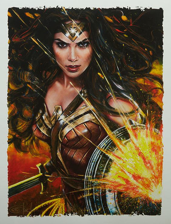 The Geeky Nerfherder: #CoolArt: 'Wonder Woman: Diana of Themyscira' by Olivia De Berardinis