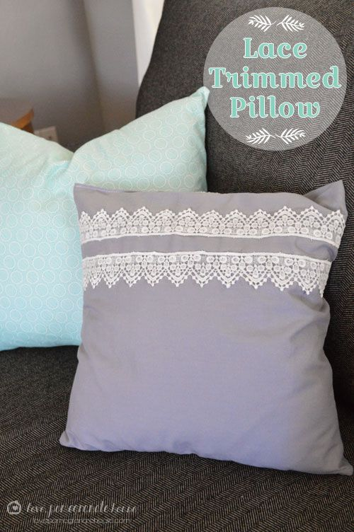 Lace Trimmed Pillow with @Martha Stewart #crafts decoupage - click thru for the full #diy how-to