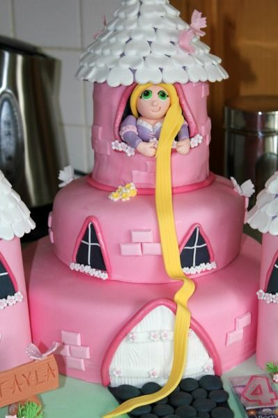 Rapunzel Cake-This is a cute idea I have not seen!