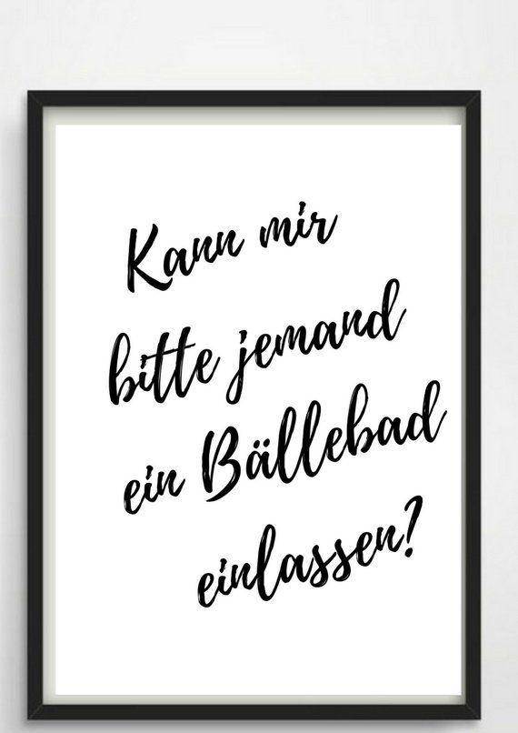 Poster A4 Ball Pool For The Bathroom Or As A Gift Geschenke Zur Einweihung Einweihungsgeschenk Letterboard