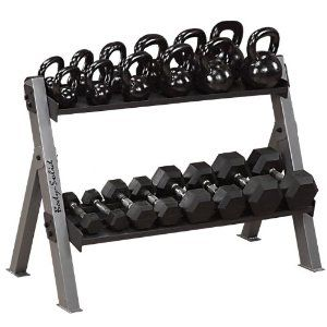 Weight rack for both dumbbells and kettle bells