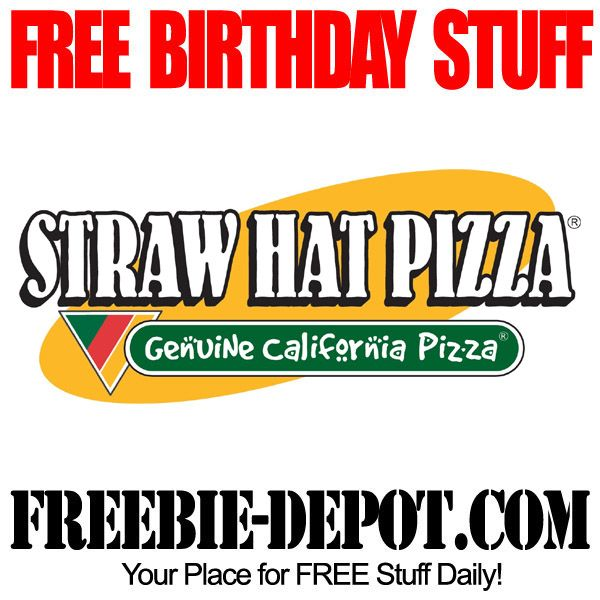 FREE BIRTHDAY STUFF – Straw Hat Pizza - FREE BDay Breadsticks