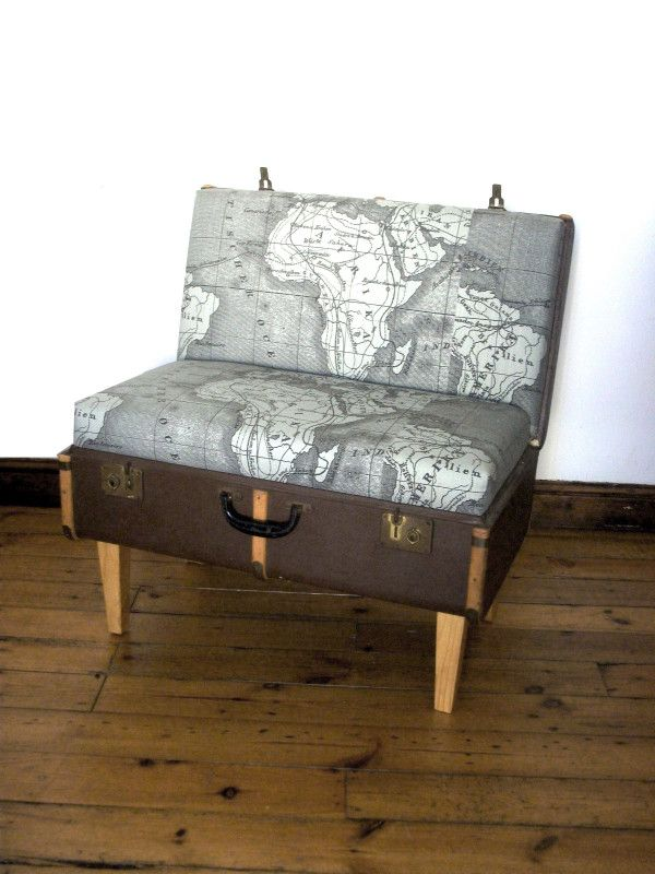 Suitcase Chair – Map–Recreate