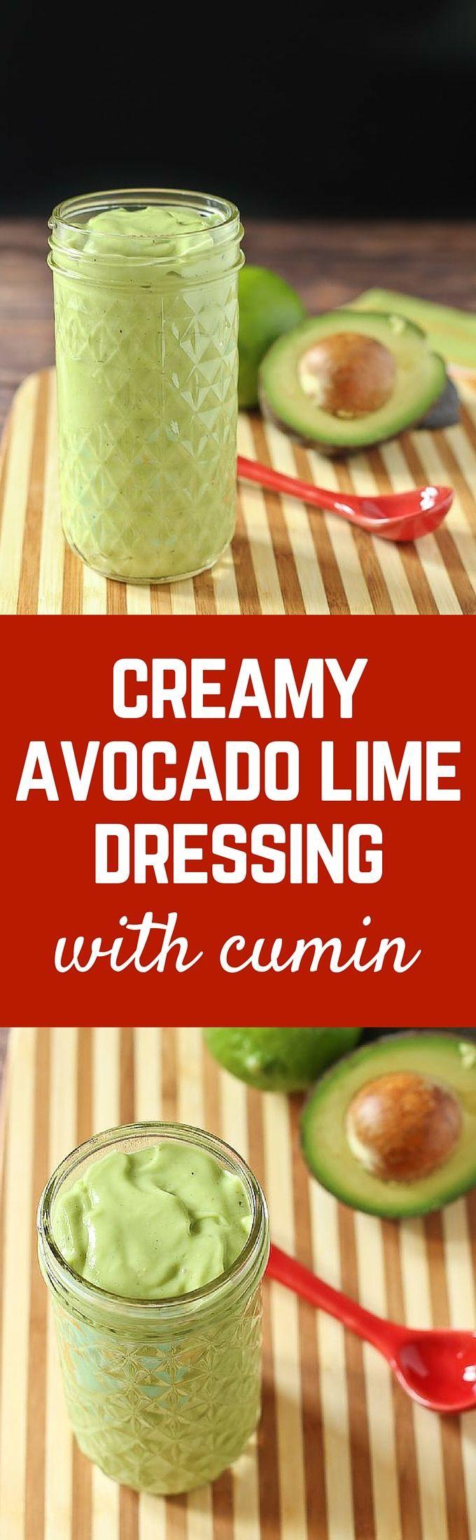 Creamy Avocado Lime Dressing with Cumin