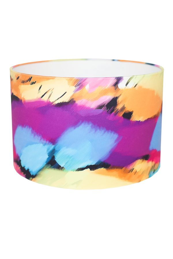 There is a wonderful dreamy, hazy quality to this lampshade. The refreshing contemporary palette will add pzazz to any setting.  FREE DELIVERY IN IRELAND