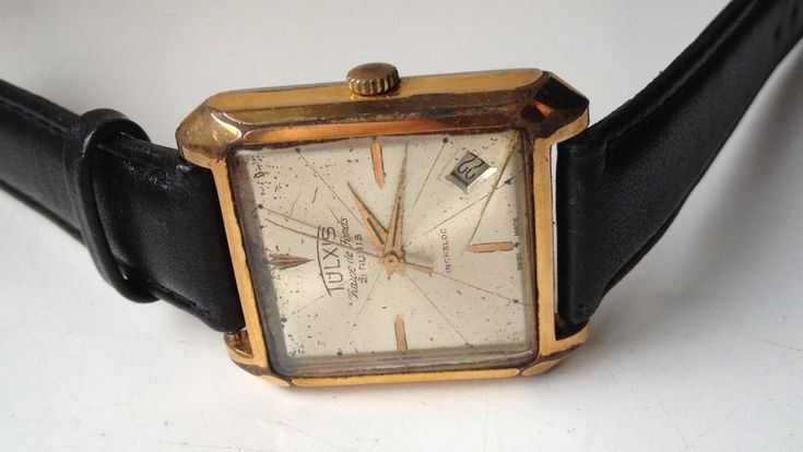 AUCTIONS ENDING ON WEDNESDAY 21 FEBRUARY FROM 8pm NEW AUCTIONS STARTING FROM 8pm.........MENS VINTAGE TULXIS CHAUX DE FONDS 21 JEWELS SWISS MADE WORKING CALENDAR WATCH