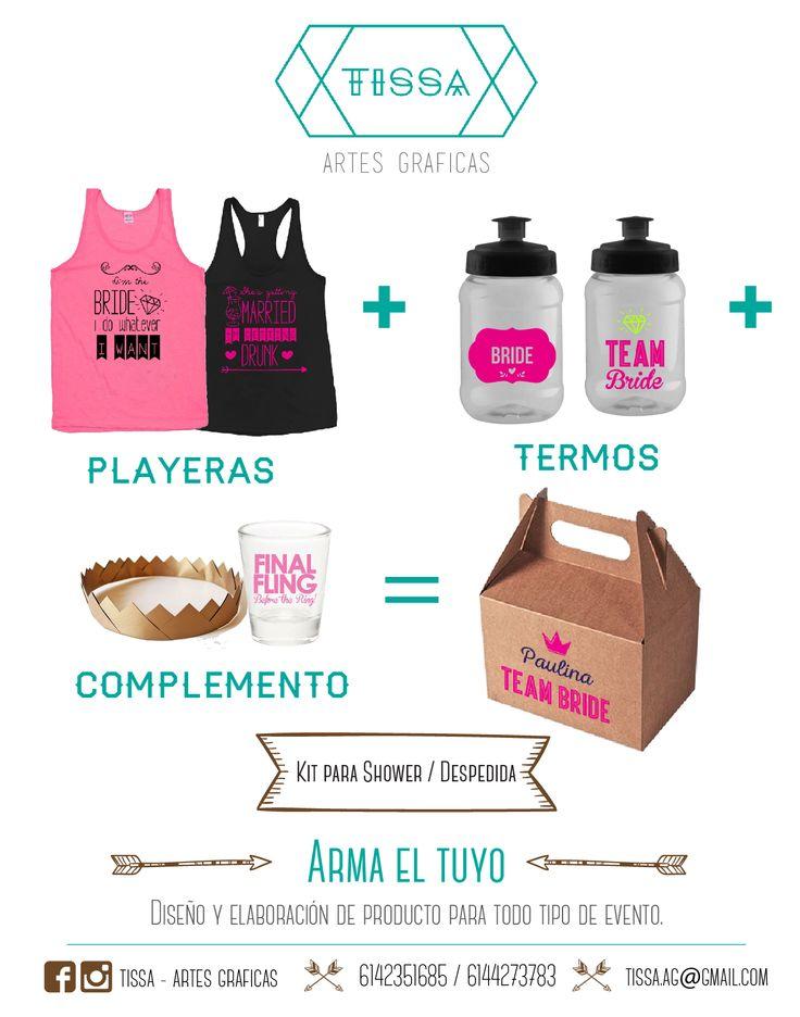 Kit Bachelorette party #bachelorette #party #kiy #tshirt #playera #termo #drink #novia #bride #fiesta #friend #amigas