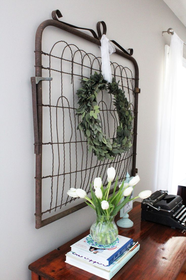 From Trash to Treasure: Old Farmhouse Gate with a Simple Silk Huckleberry Wreath