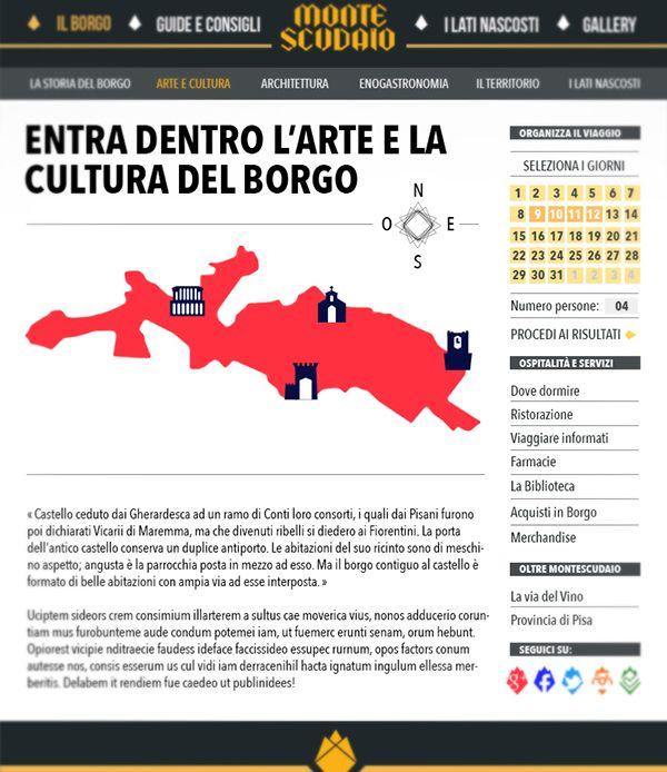 Montescudaio - Tuscan Borgo Branding on Behance
