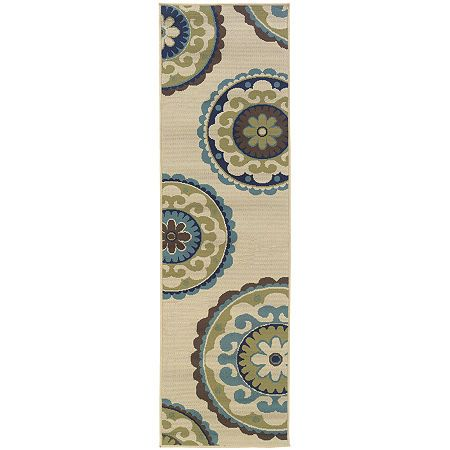 Covington Home Medallion Indoor Outdoor Rectangular Rug